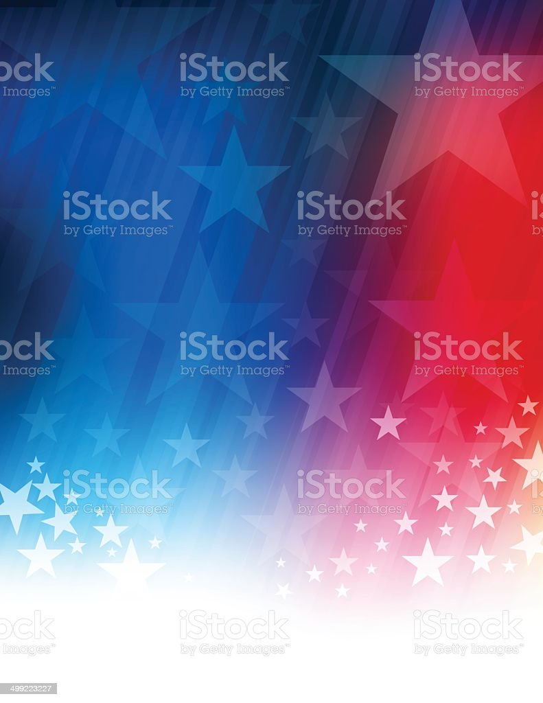 Stars and stripes abstract vector art illustration