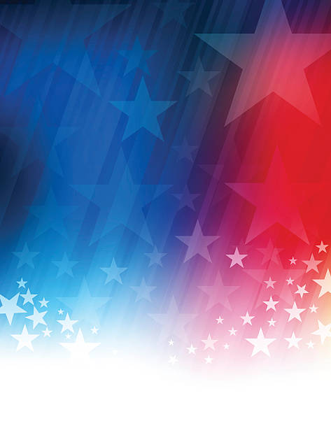 Stars and stripes abstract Vector of rising star and stripes background presidential candidate stock illustrations