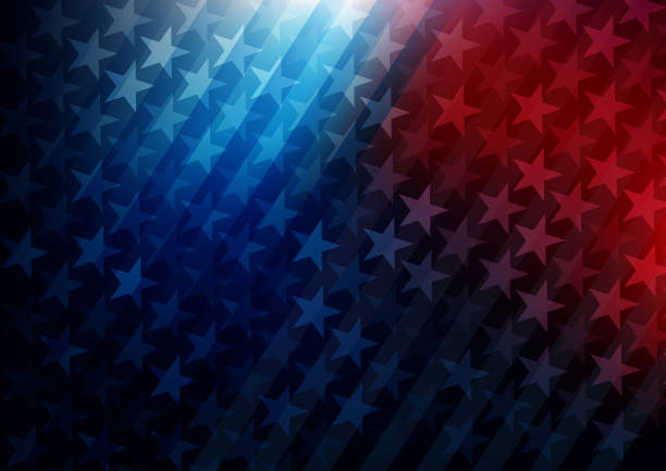 usa stars and stripes background - american flag stock illustrations