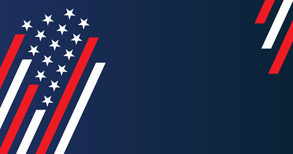 Vector illustration of USA stars and stripes background. EPS Ai 10 file format.