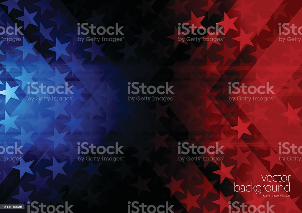 Stars and stripes background vector art illustration