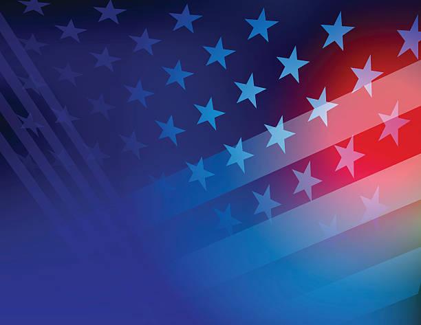 stany zjednoczone ameryki gwiazdy i paski tła - us flag stock illustrations