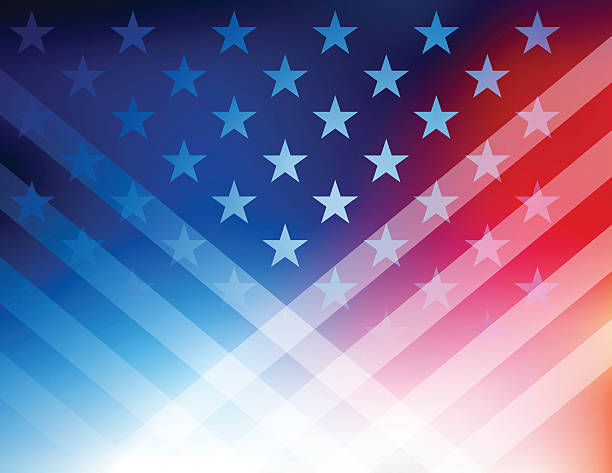 USA Stars and stripes background Vector of USA rising star  background. presidential candidate stock illustrations