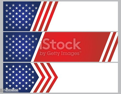 istock USA stars and stripes banner background 1163506558