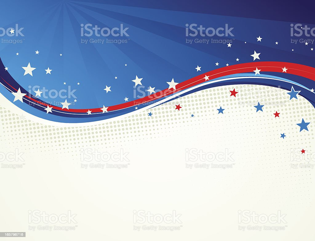 Stars and Stripes wavy background royalty-free stars and stripes wavy background stock vector art & more images of abstract