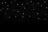 stars on night sky christmas