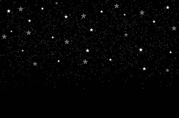 stars background - космос и астрономия stock illustrations