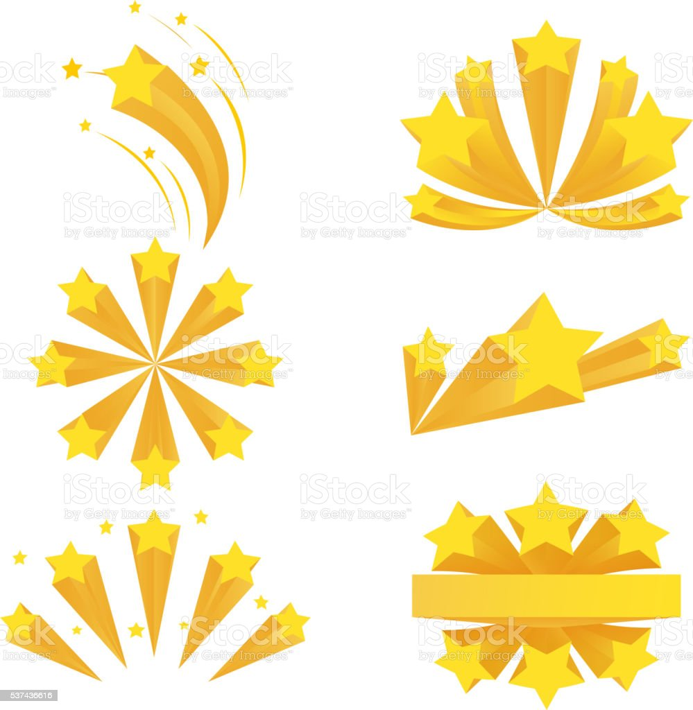 Stars burst elements. Vector on white background vector art illustration