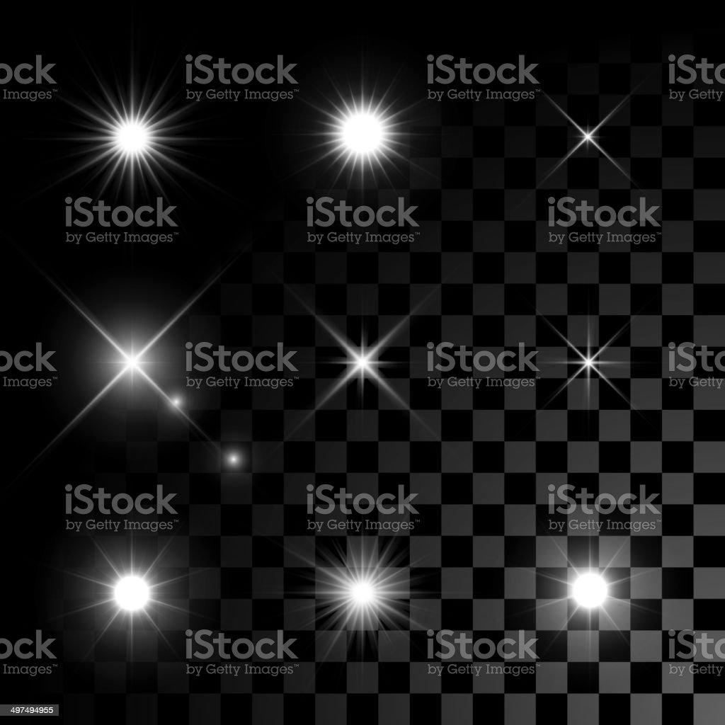 Stars bursts with sparkles vector art illustration