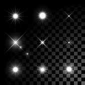 Stars bursts with sparkles
