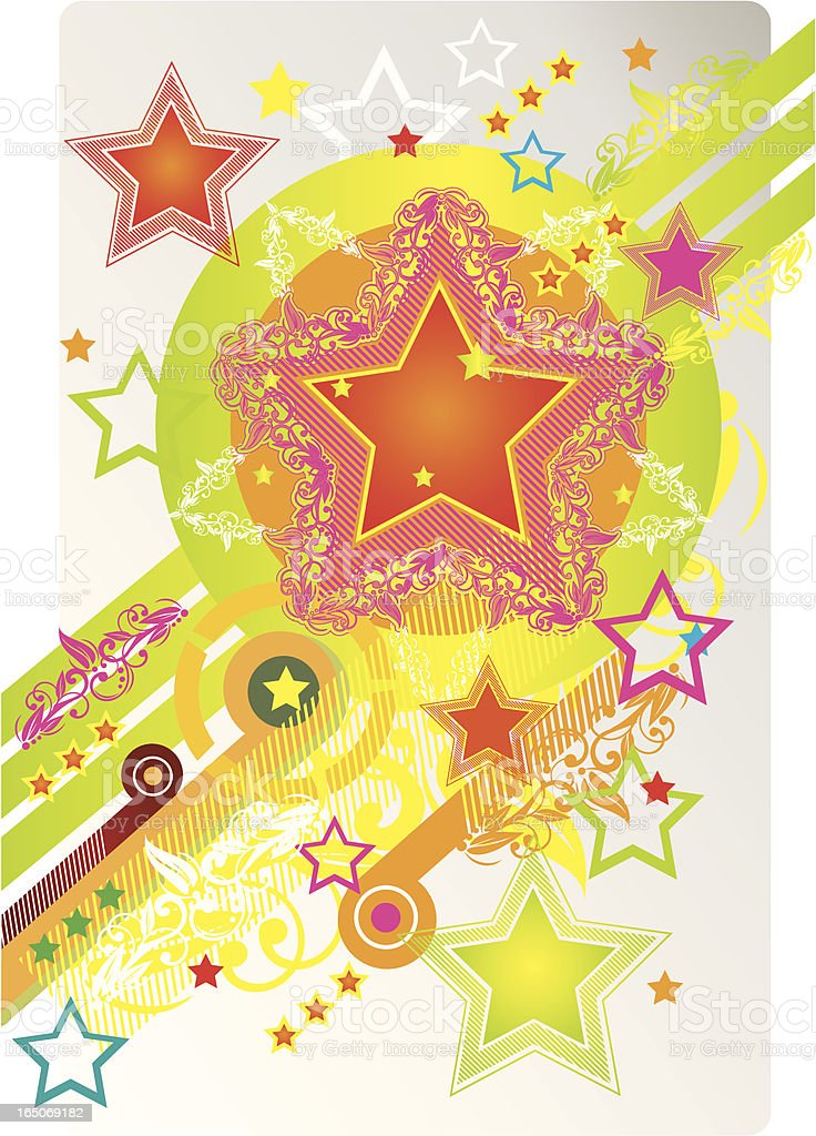 Stars - disco style royalty-free stars disco style stock vector art & more images of 1970-1979