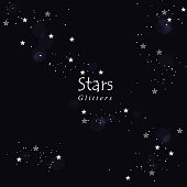 abstract stars and glitters background