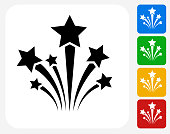 Stars Icon Flat Graphic Design