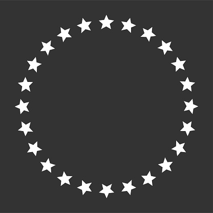 Stars in circle shape icon. Template for award, price, reward. Vector image.