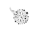 Stars In Circle Vector Illustration. Flat icon star frame symbol