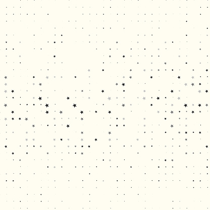 Stars in matrix pattern, most are missing