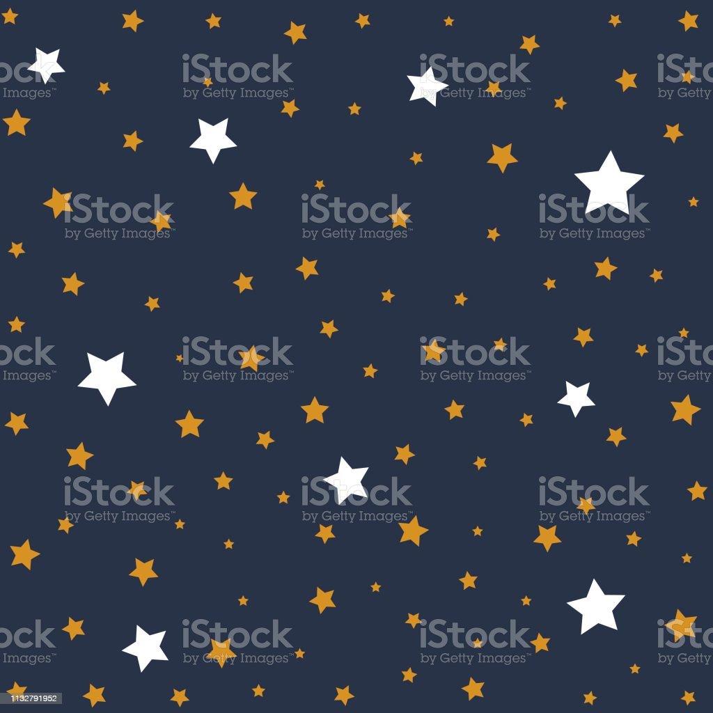 Stars In Night Sky Background Illustration Stock Illustration