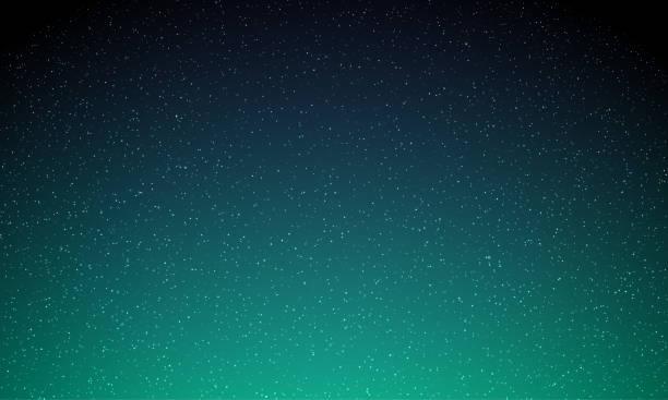 bildbanksillustrationer, clip art samt tecknat material och ikoner med stjärnor i natthimlen, stjärnklart ljus, vektor galaxy rymd bakgrund. aurora norrsken lyser, neon aurora magic shine bakgrund - northern lights