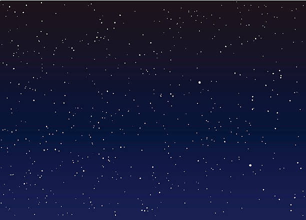 stars in the night sky vector - dusk stock illustrations