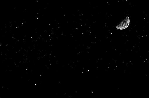 vector Stars, moon and night sky