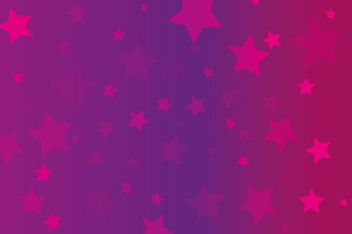 stars on pink background