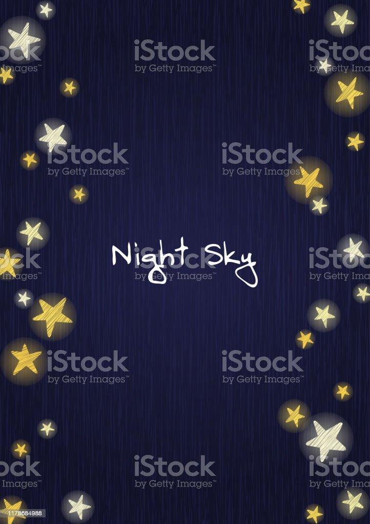 Stjärnor på natthimlen, Wood Board bakgrunds vektor för dekoration på reklam design. - Royaltyfri Abstrakt vektorgrafik