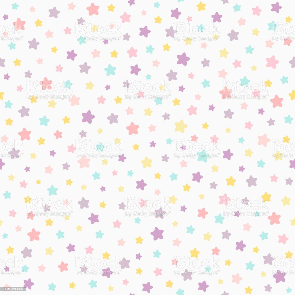 Colores Bebe.Ilustracion De Patron Sin Costuras Color Pastel Estrellas