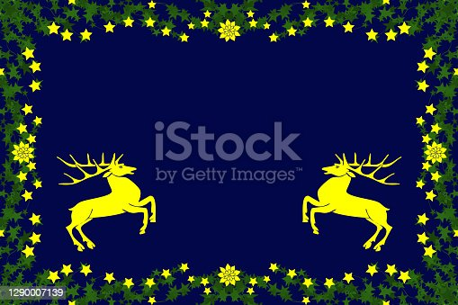 istock stars picture frame with deer 1290007139