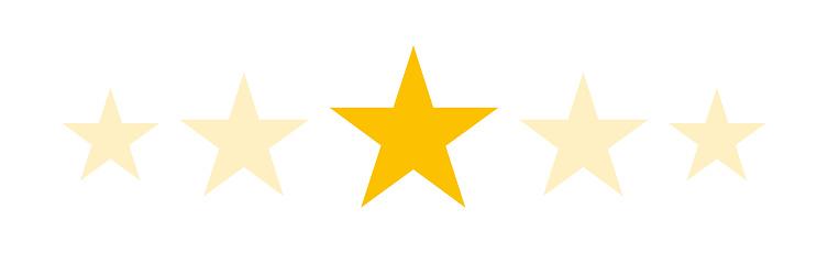Stars rating customer product flat icon