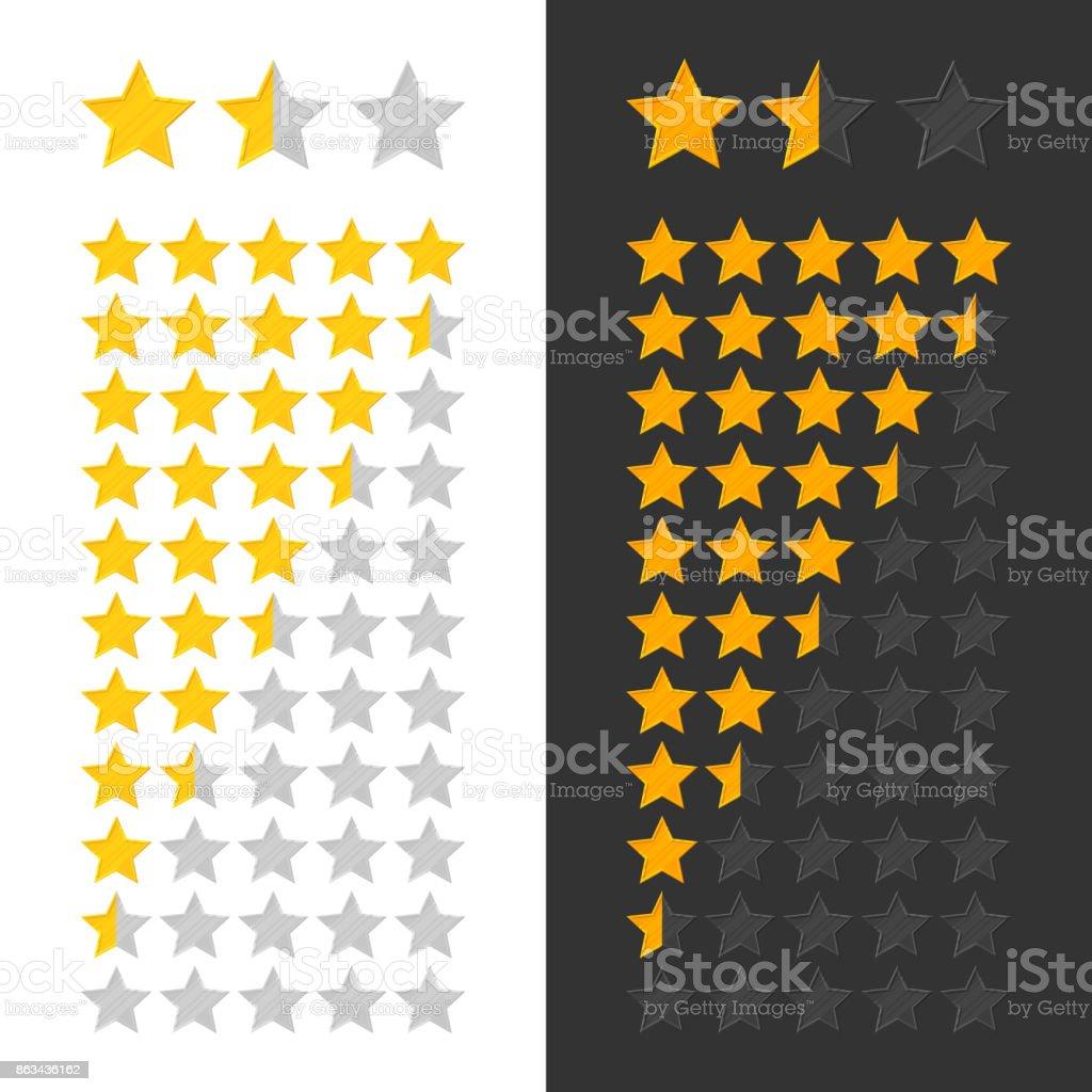Stars rating panel vector art illustration
