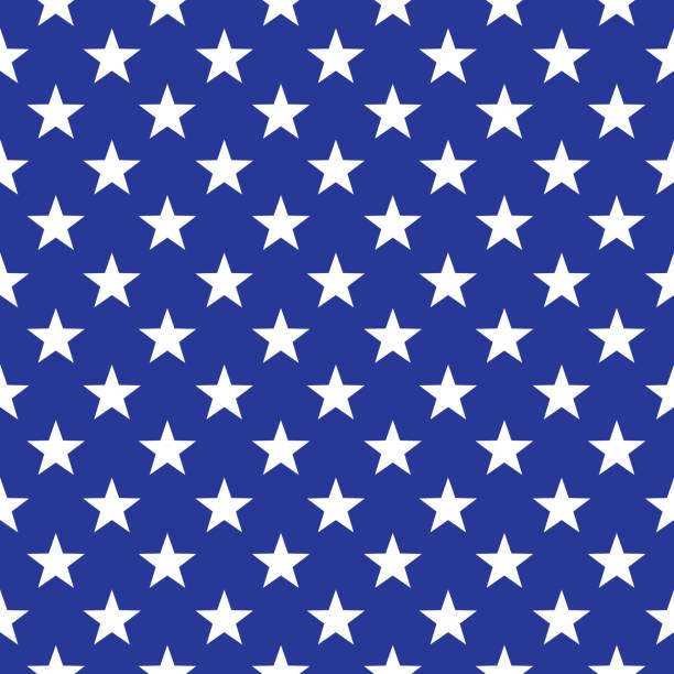 usa stars seamless pattern - us flag stock illustrations
