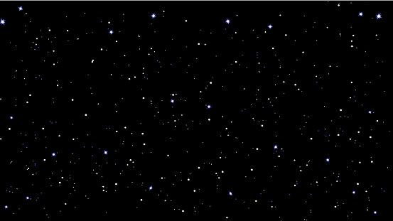 Stars Sky Night Vector Illustration — стоковая векторная графика и другие изображения на тему Абстрактный