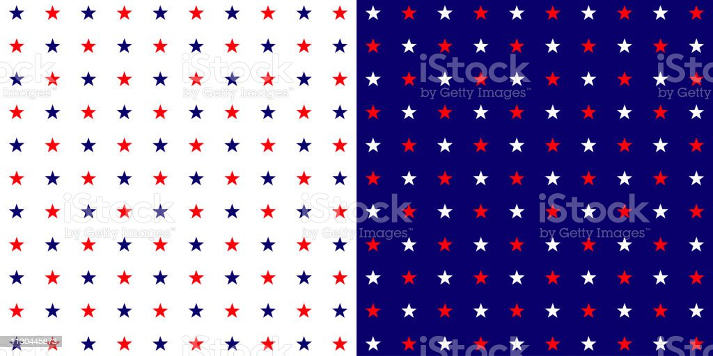 Stars vector background. Stars in blue, red and white color. Eps10