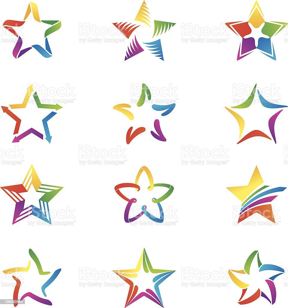 Stars vector art illustration