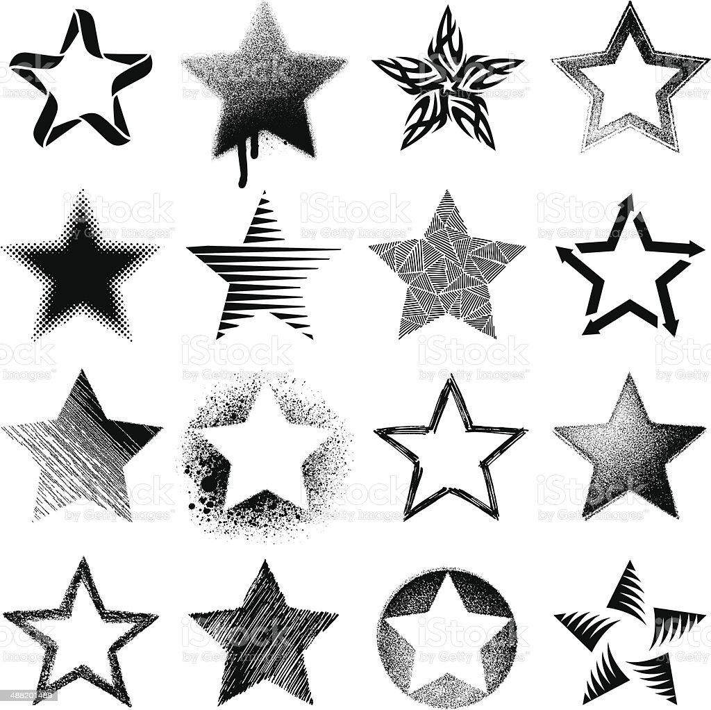 Stars vector art illustration