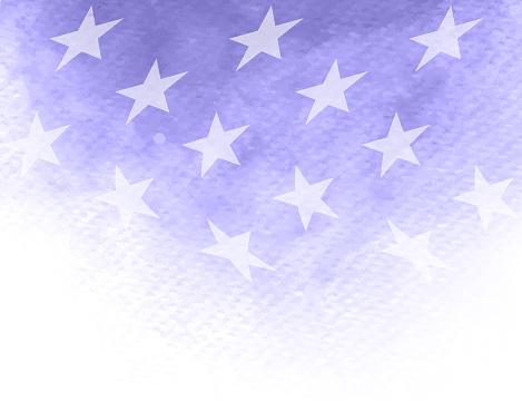 stars watercolor patriotism