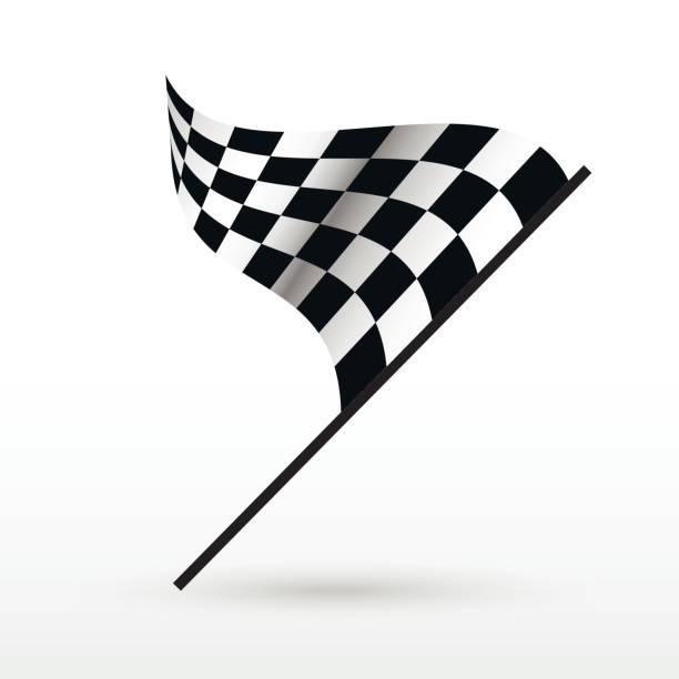 Start und Ziel Flaggen. – Vektorgrafik