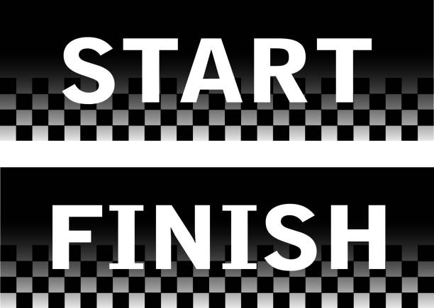 baner startowy - start stock illustrations