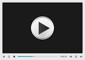 Start button on screen of video player