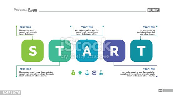 Five steps process chart. Business data. Start, diagram. Creative concept for infographic, templates, presentation, report. Can be used for topics like training.