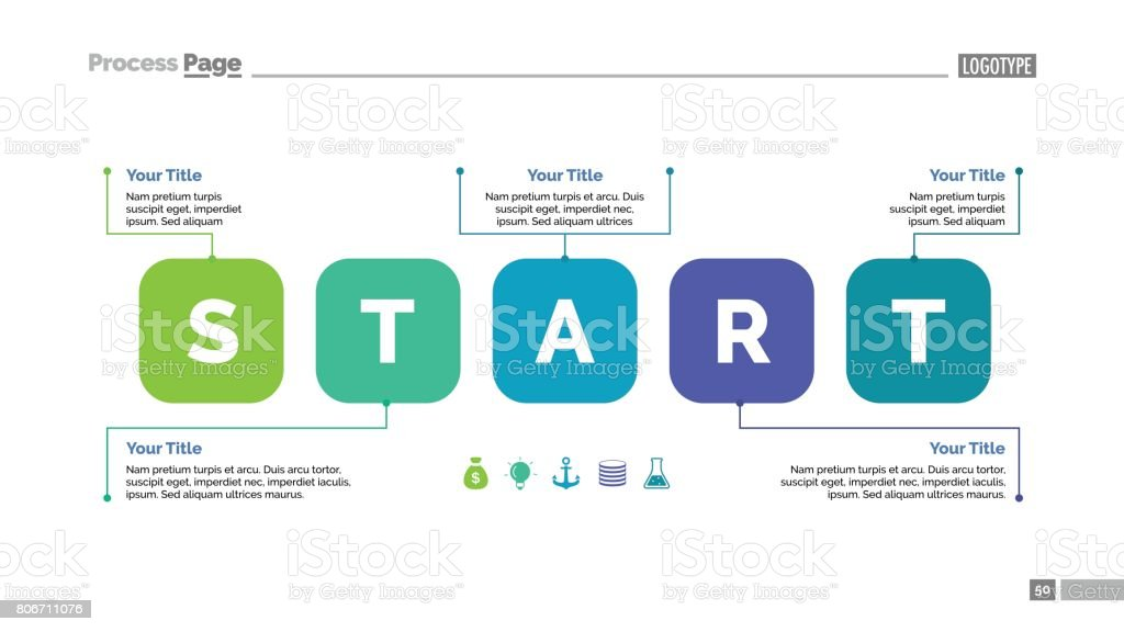Start Elements Slide Template vector art illustration