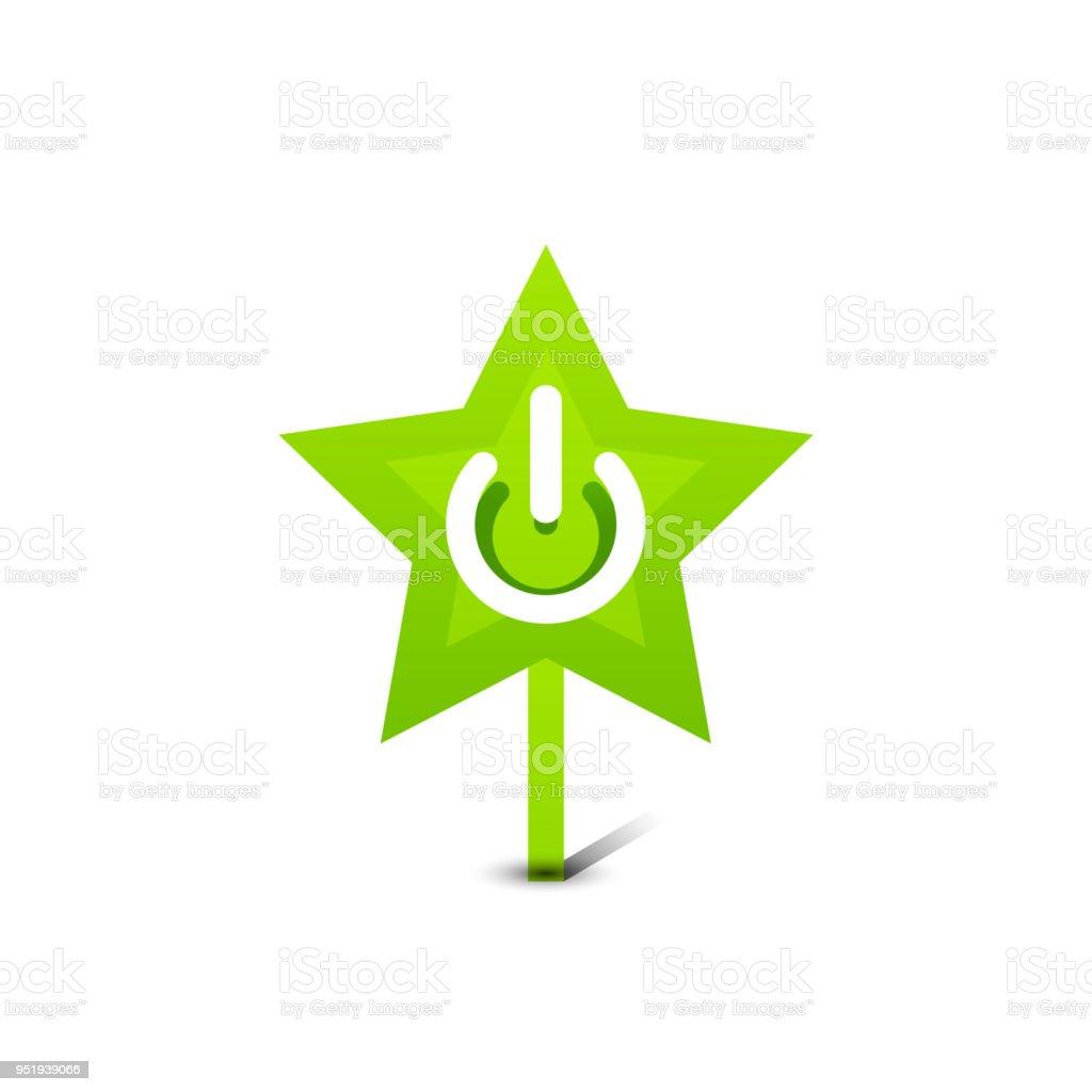 Start Power Button Ui Icon Design On Off Symbol Stock Vector Art