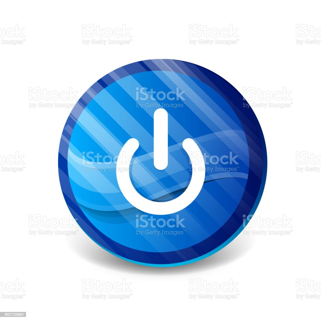 Start Power Button Ui Icon Design On Off Symbol Stock Vector Art