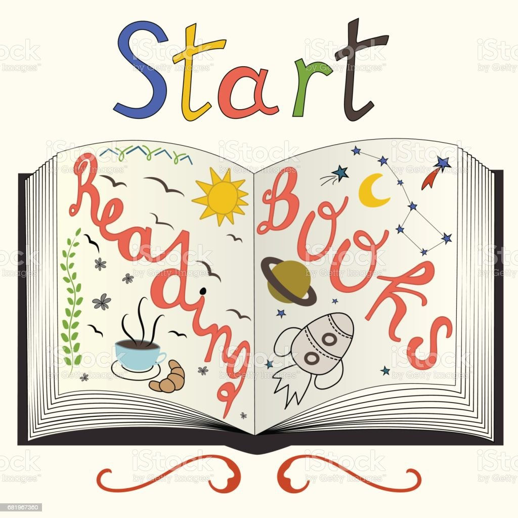 Beginnen Met Het Lezen Van Boeken Motiverende Citaat Over
