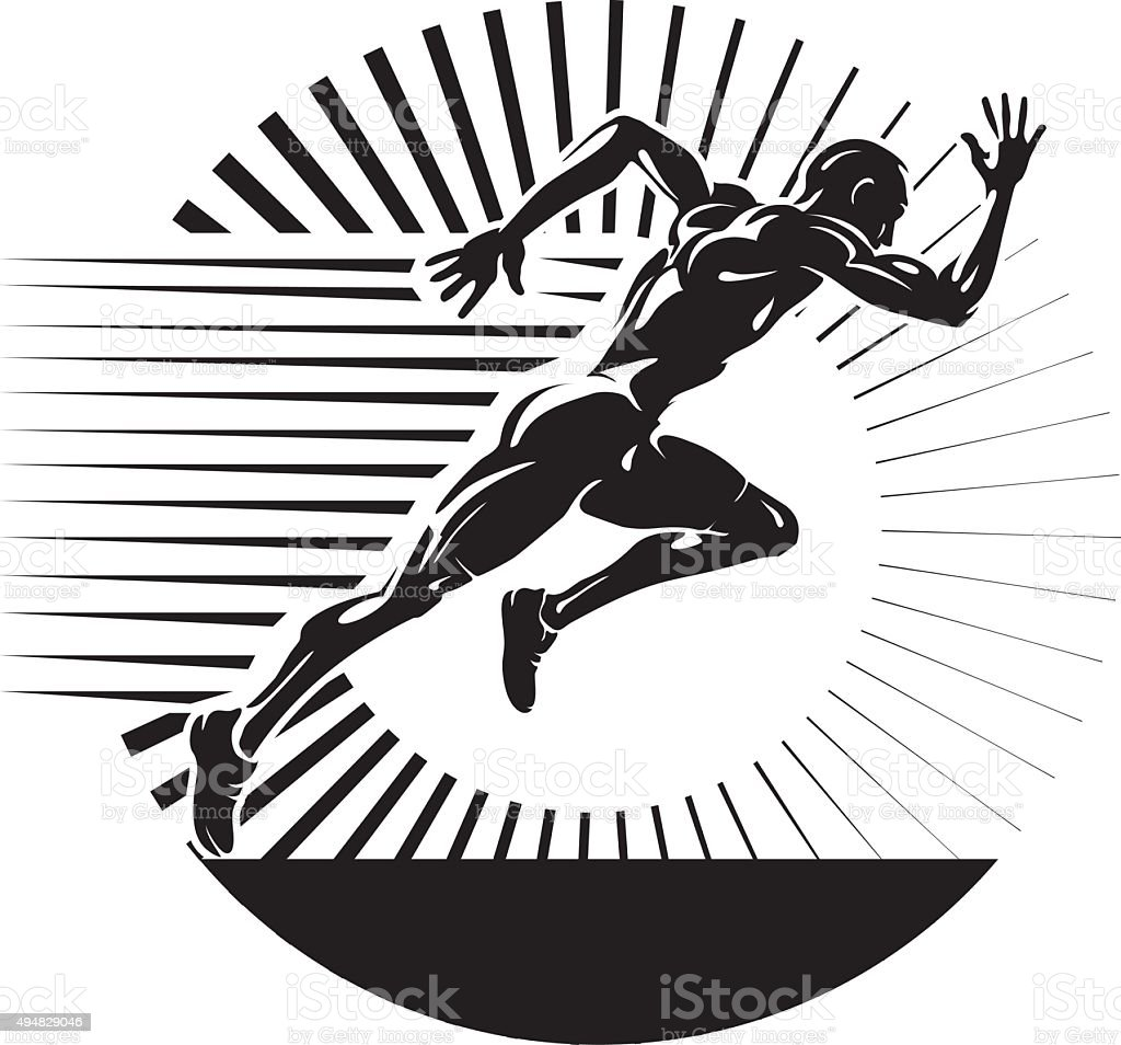 Start running. vector art illustration