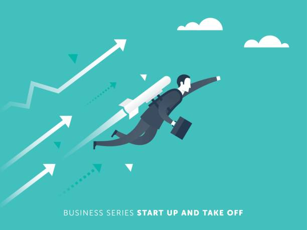 ilustrações, clipart, desenhos animados e ícones de comece de negócios - entrepreneurship