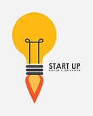start up graphic design , vector illustration
