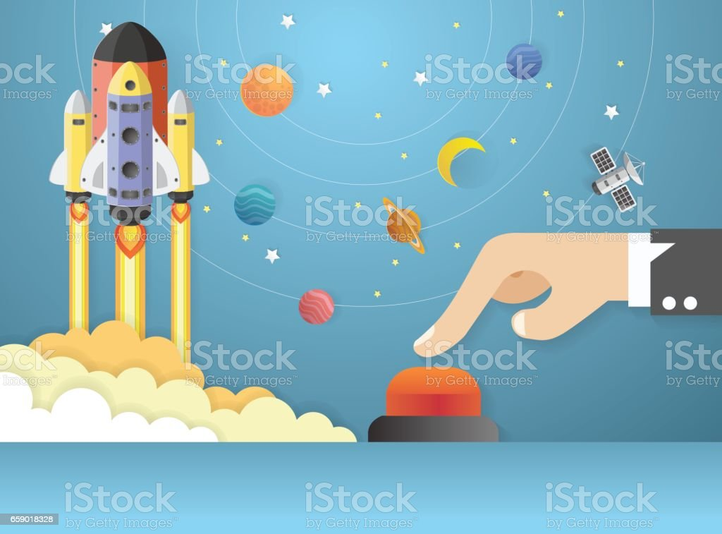 Start Up. hands pushing the start button. Concept business royalty-free start up hands pushing the start button concept business stock vector art & more images of art