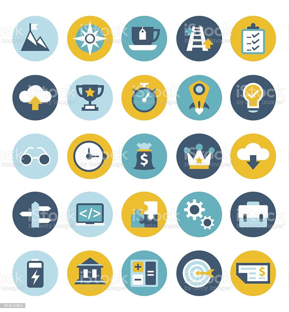 Start up icon set vector art illustration