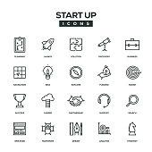Start Up Line Icon Set